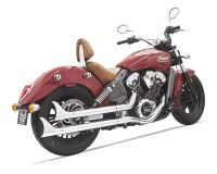 Bassani Fishtail Slip On Mufflers For Indian Scout 2015 ...