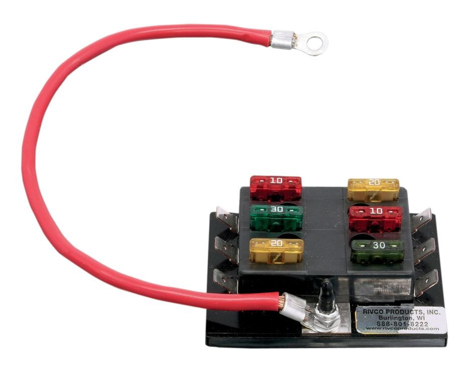 Rivco 6-Circuit Fuse Block - RevZilla