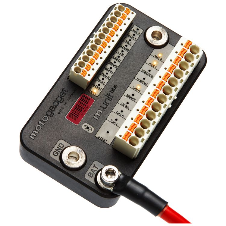 Motogadget m-Unit Basic Digital Control And Fuse Box - RevZilla