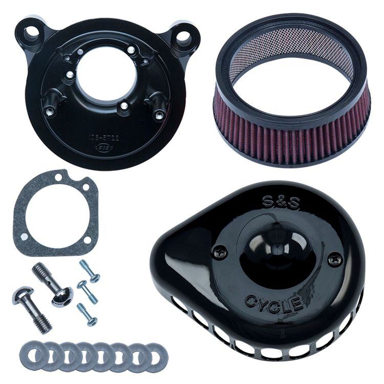 SS Mini Teardrop Stealth Air Cleaner Kit For Harley EFI Big Twin