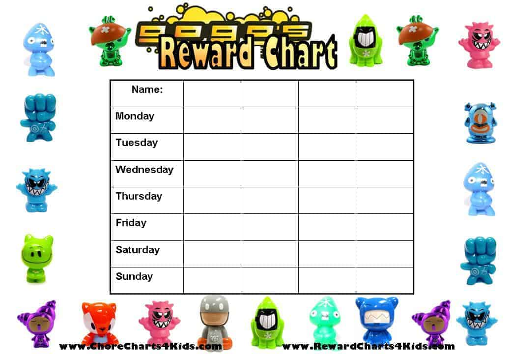 Reward Charts for Multiple Kids - Kids Behavior Chart Template