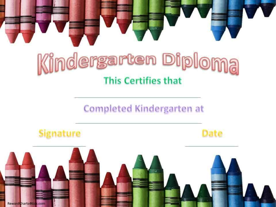 free printable preschool certificates