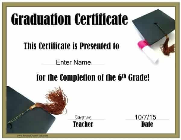 School Graduation Certificates Customize online with or without a - graduation certificate
