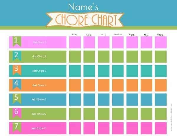 chore chart template word - Goalgoodwinmetals