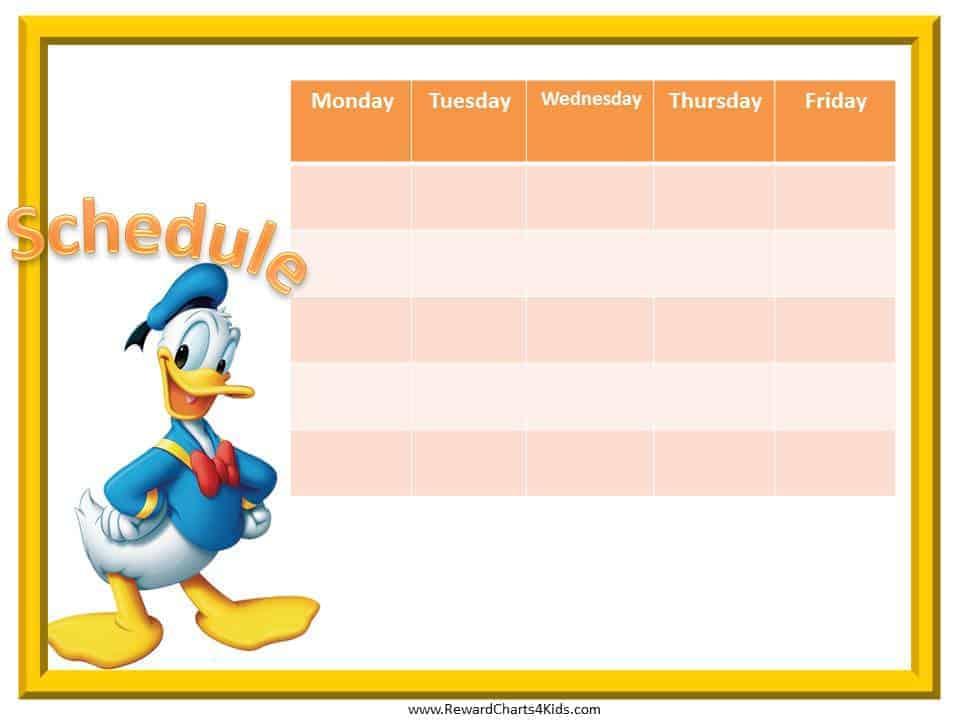 kids schedule templates - Towerssconstruction