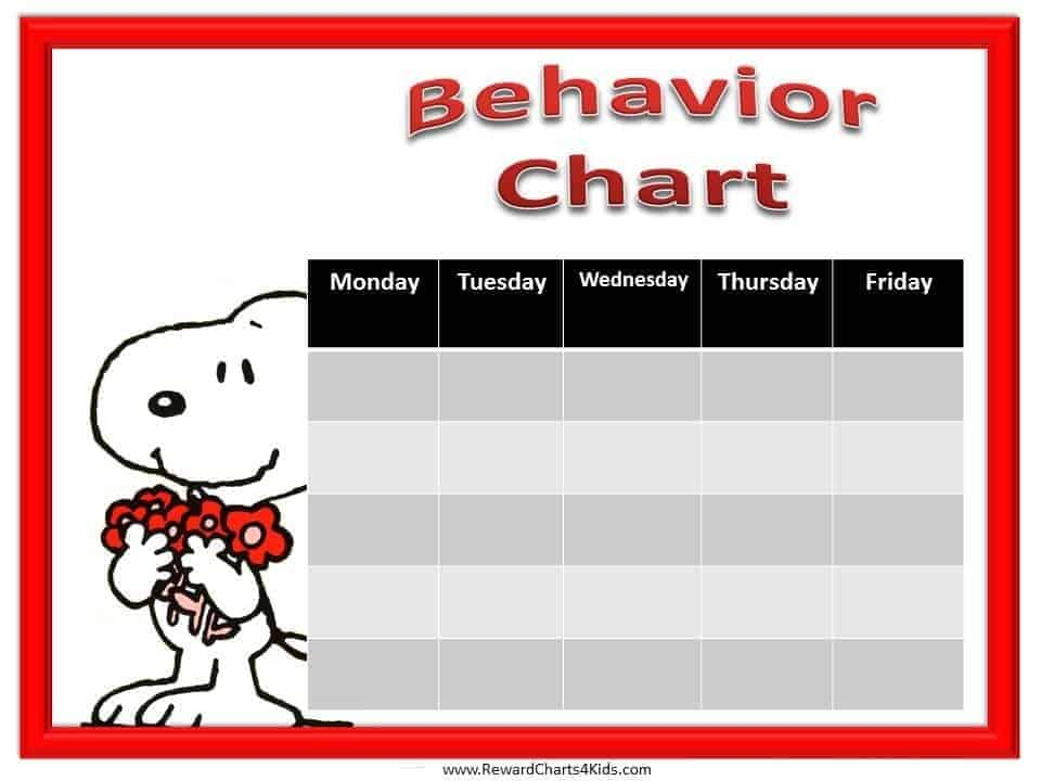 Printable Behavior Chart Free Printable Cars Behavior Chart Cars - printable behavior chart