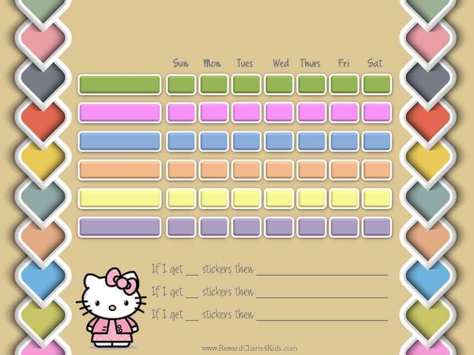 Hello Kitty Potty Chart - hello kitty potty