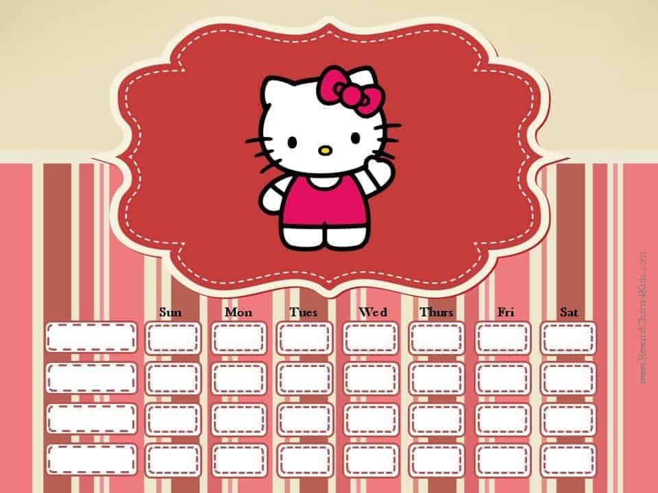 Hello Kitty Behavior Chart - hello kitty potty
