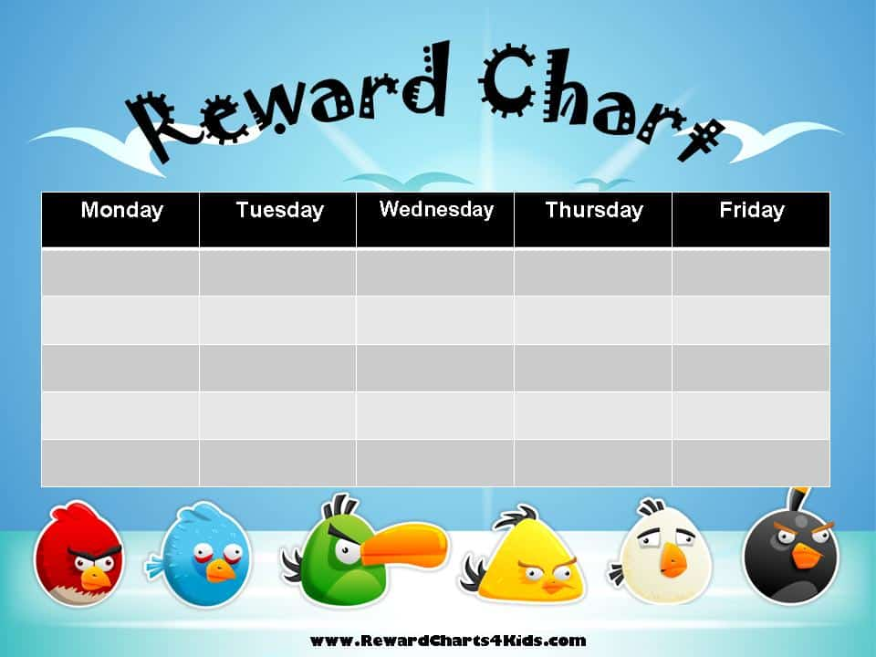 Free Printable Reward Charts for Kids Customize Online then Print - blank sticker chart