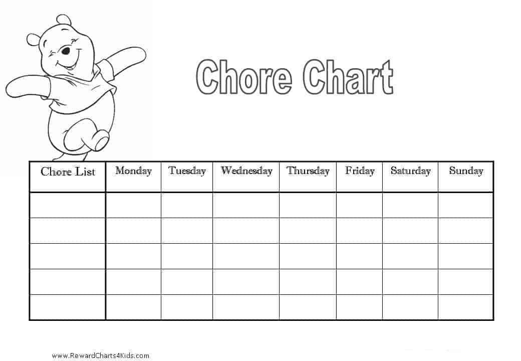 Child Chore Chart Template | Sample Customer Service Resume