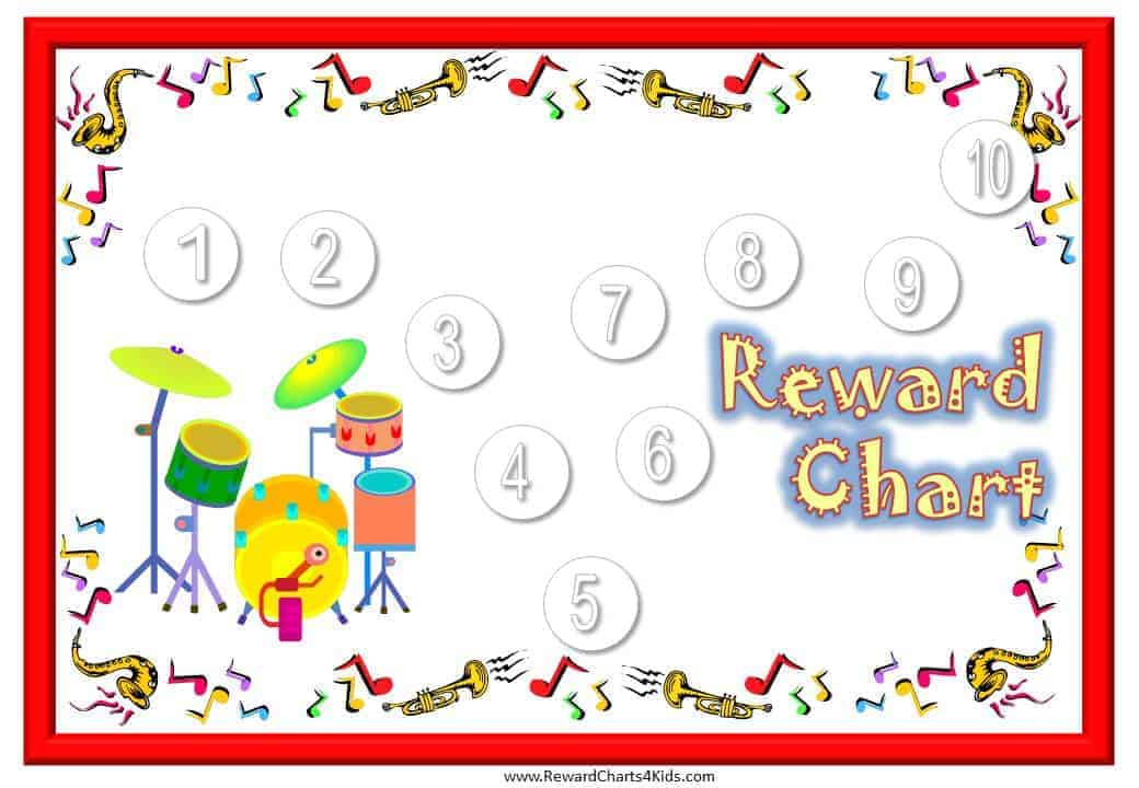 musical-reward-charts-12jpg (1040×720) Drum Lessons Pinterest - sticker chart