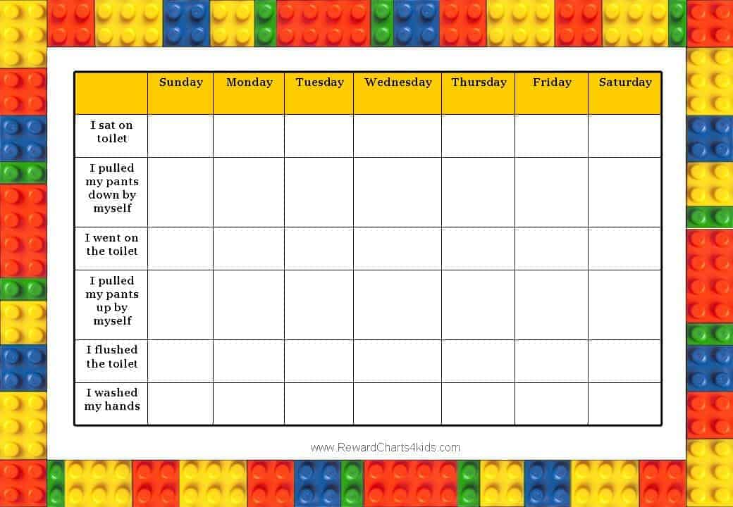 chore charts templates for kids