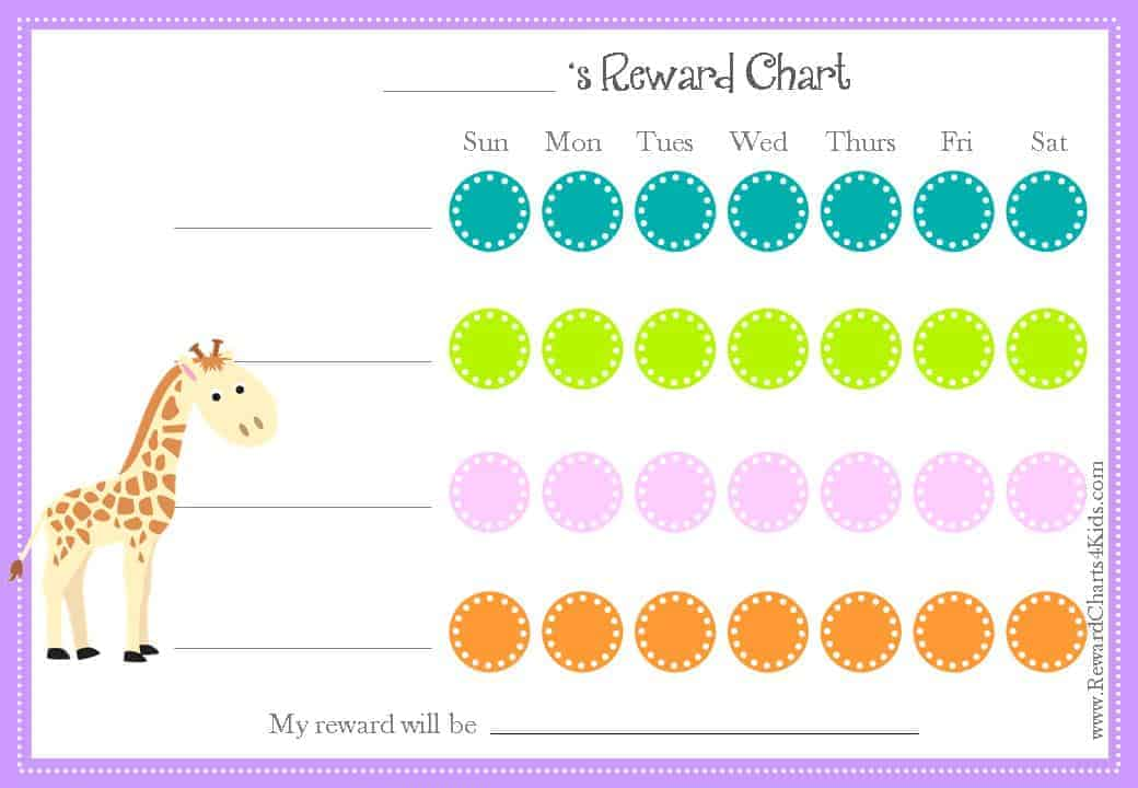 Animal Reward Charts Free Printable  Customizable Charts