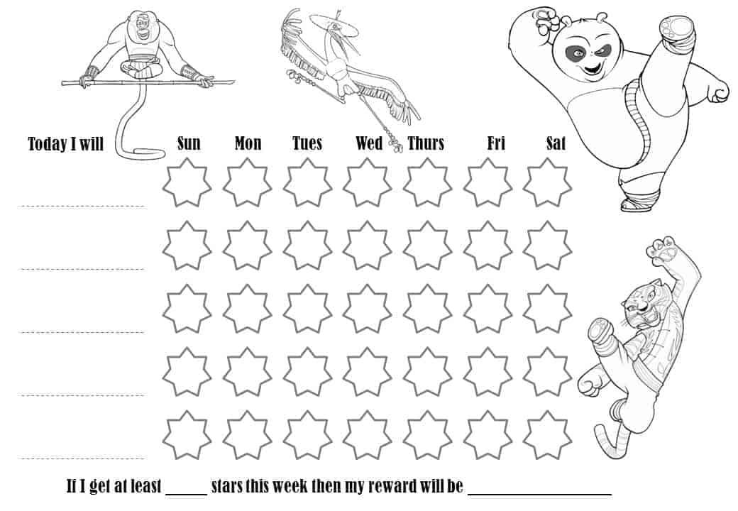 Behaviour Charts Free printable charts