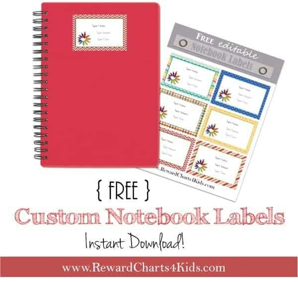 Free personalized kids school labels - Customize online  print at home