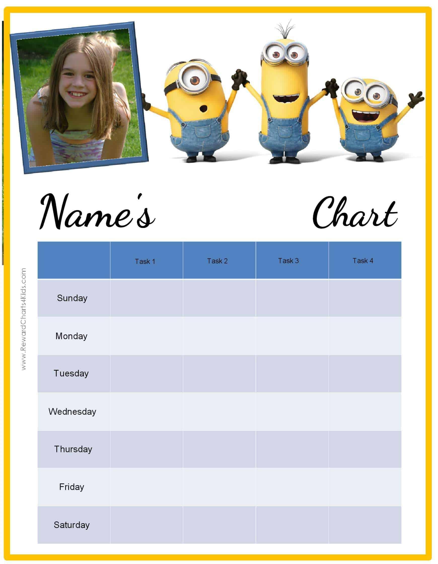 sticker behavior chart template