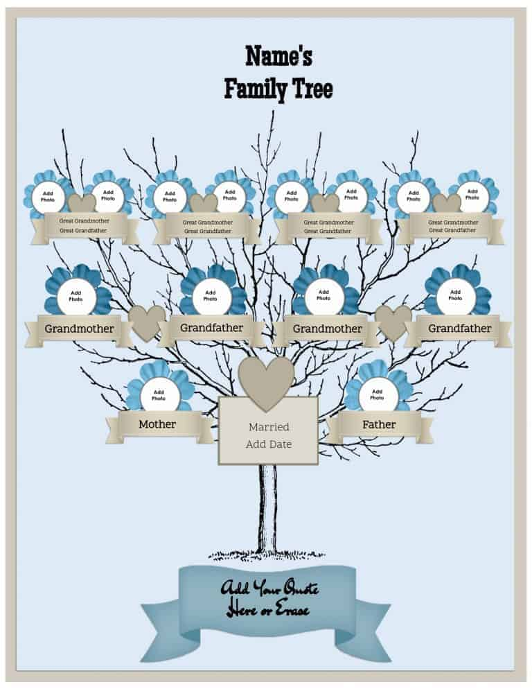 Free Family Tree Template Customize Online then Print