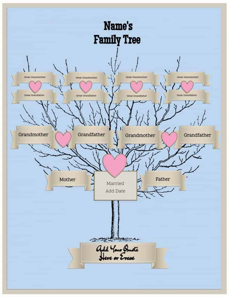 family tree portrait template