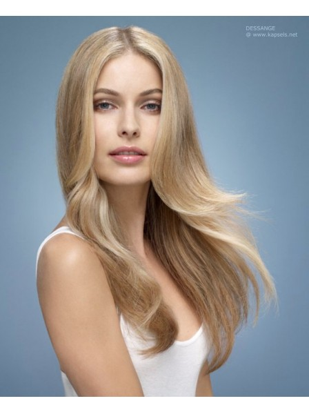 Luxurious Long Lengths Lace Front Mono Top Human Hair Blonde Wigs