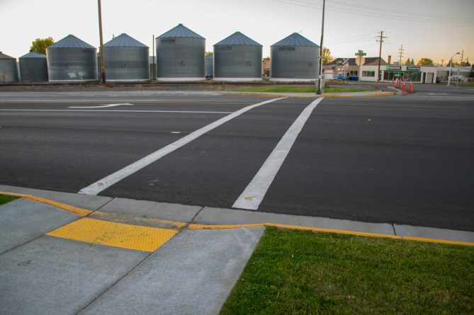 Rexburg 1st North & 2nd West Corner Crosswalk