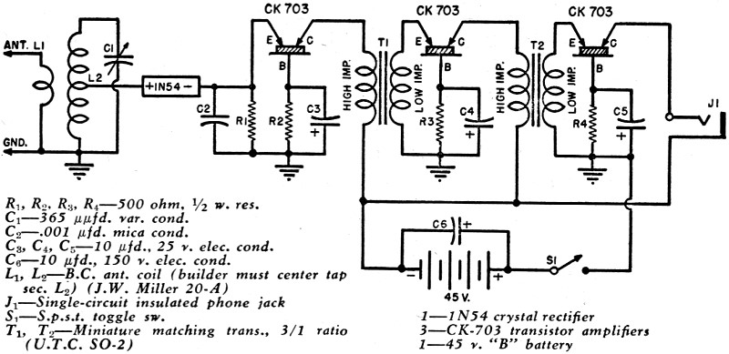 crystal receiver circuit