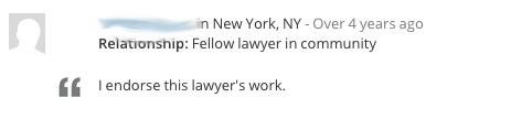 Lawyer Endorsement 2