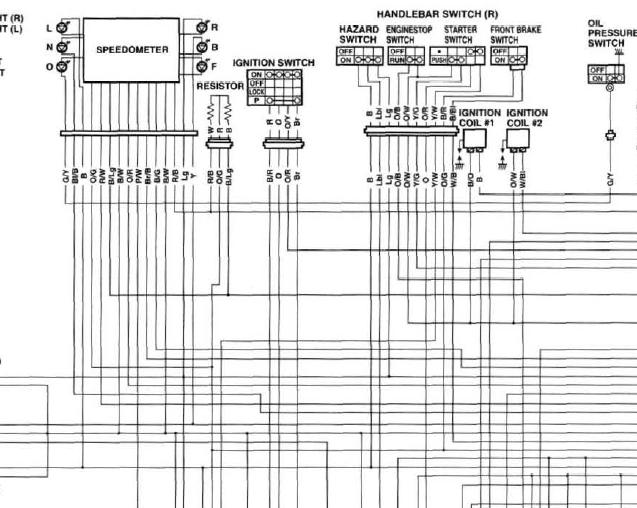 1998 Yamaha R1 Wiring Diagram Electronic Schematics collections