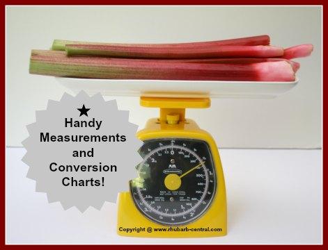 Rhubarb Conversion Charts Metric Standard - How much Rhubarb?