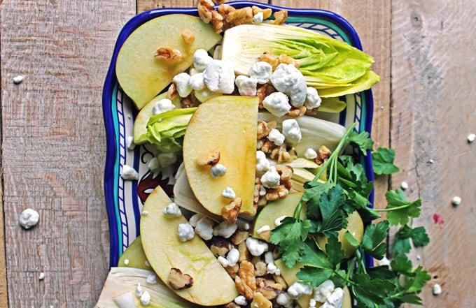 Belgian endive and apple salad