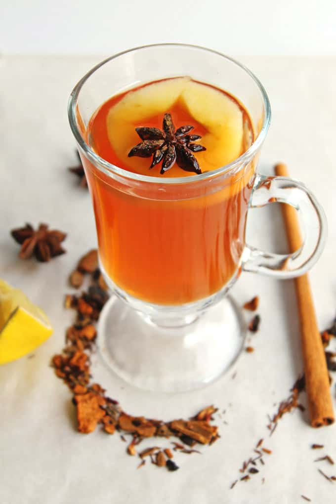 Apple cider hot toddy cocktail | Rhubarbarians