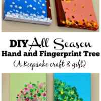 DIY Four Season Hand and Fingerprint Tree