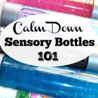 Calm Down Sensory Bottles 101
