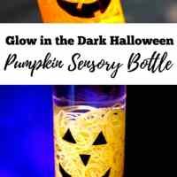 Glow in the Dark Halloween Pumpkin Sensory Bottle