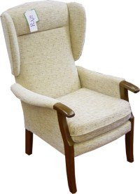 Drayton Orthopaedic Chair Standard fabric Wing Chair 18 ...