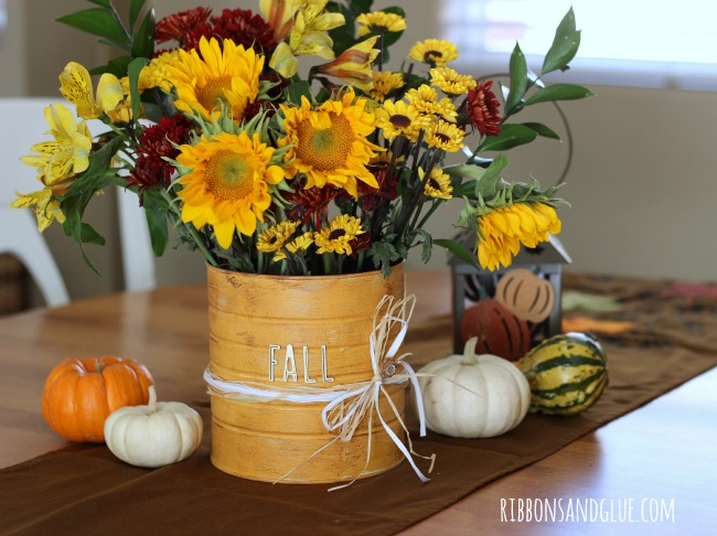 Fall Sunflowers Wallpaper Diy Rustic Flower Vase