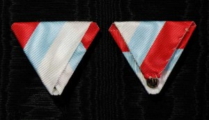 #MO052 - Montenegrian tricolor ribbon type 2.