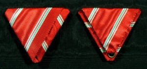 #ORHU060 - Hungary Republic, Order of Merit, Ribbon for Small Cross