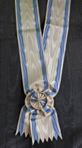 #SE009 - Order of the Saint Sava - Grand cross sash (Grand Croix) - type 3 for the later types of the Order, mainly Kingdom of Yugoslavia