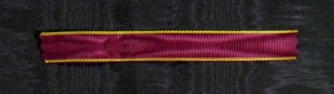 #MBE005 - Belgium, Order of the Crown, war ribbon with embroidered edges