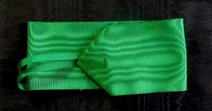 #IT025 - Italy, Order of Mauritius and Lazarus, ribbon for Commander's cross