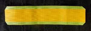 #ORFR017 France, Ribbon for Military Medal (Medaille Militaire) 3rd type