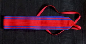 #RO033 –Romania, Order of the Romanian Star, 1st model 1864-1932, ribbon for Commander's Cross