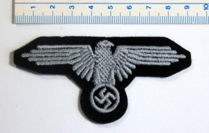 #GTR074 – Germany, Third Reich - A Waffen-SS Sleeve Eagle for tunic, machine embroidery, type 1