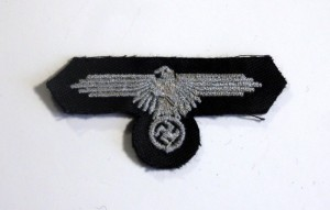 #GTR076 – Germany, Third Reich - A Waffen-SS Sleeve Eagle for tunic, machine embroidery, type 2