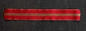 #ORRO010 – Romania, ribbon for Romanian anti - communism campaign Medal