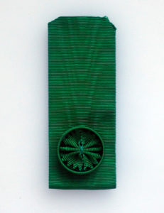 #IT033 – Italy, Order of Mauritius and Lazarus, ribbon for Officer's cross (37 mm, rosette 26 mm).