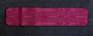 #ORBE001 – Belgium, Order of Leopold, ribbon for knights cross. Original silk, best old quality.