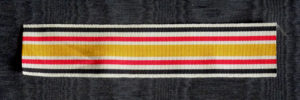 #GST019 – German Empire, Ribbon for China campaign 1901. commemorative medal