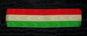 #IT040 – Italy, Republic, National tricolora ribbon, type 1, (37 mm)