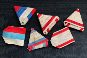 #SOMO001– Montenegro, lot of 6 original ribbons – Order of Danilo, Red Cross Decoration, etc.